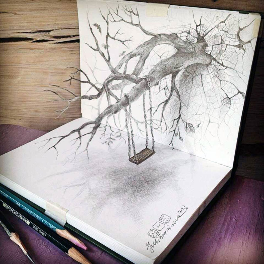 Amazing and Stunning 3D Pencil Arts