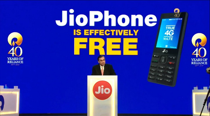 Reliance Jio Has Announced Its New 4G Phone Which Is Effectively Free