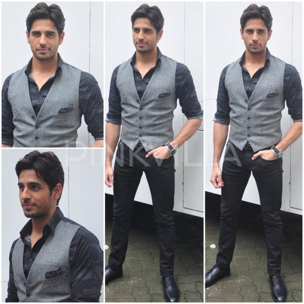 semi-casual waistcoat-siddharth malhotra-Wedding Outfits