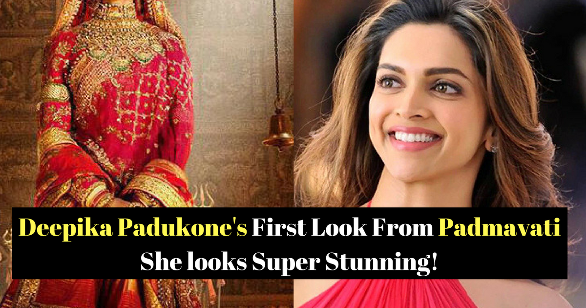 Deepika Padukone's First Look in Padmavati