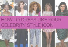 Dress up like a celebrity