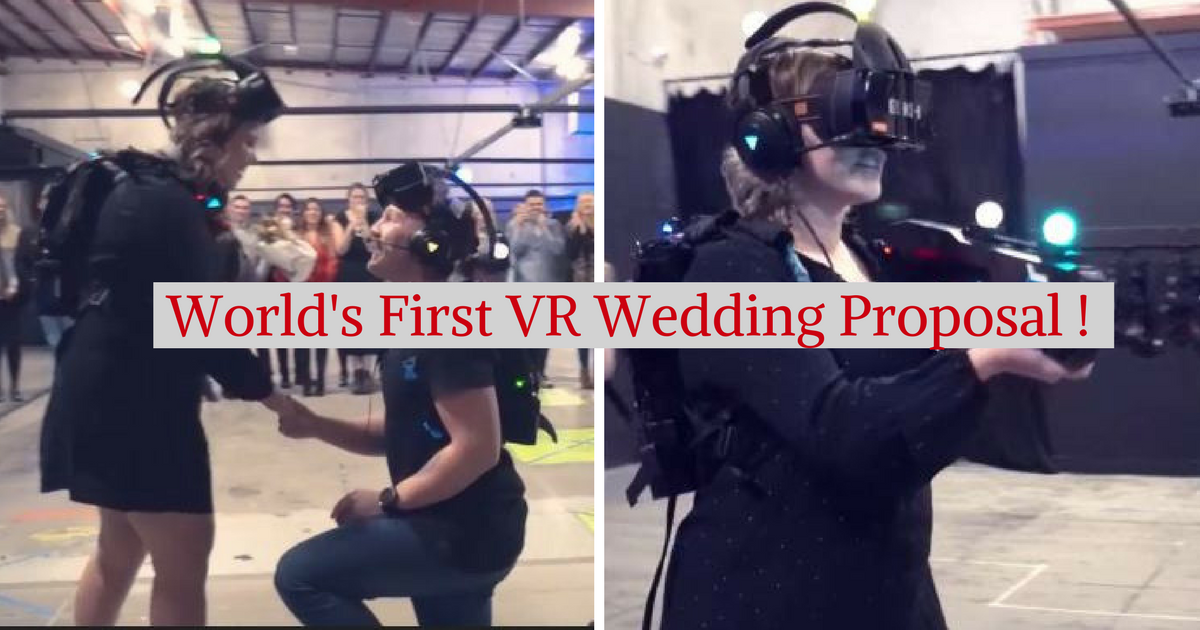 World's First VR Wedding Proposal