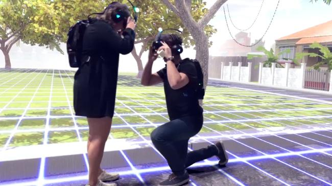 Guy Proposes His Girlfriend in VR