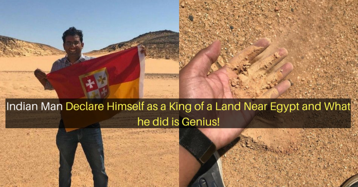 Indian Man Declare Himself as a King of a Land Near Egypt