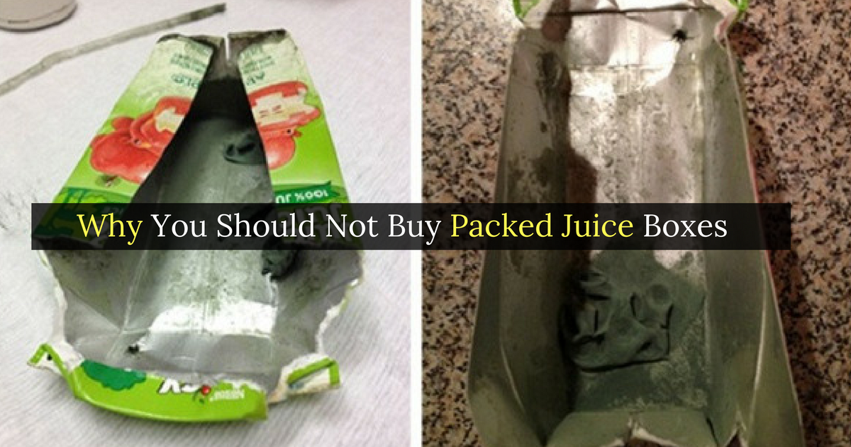 Why You Should Not Buy Packed Juice Boxes