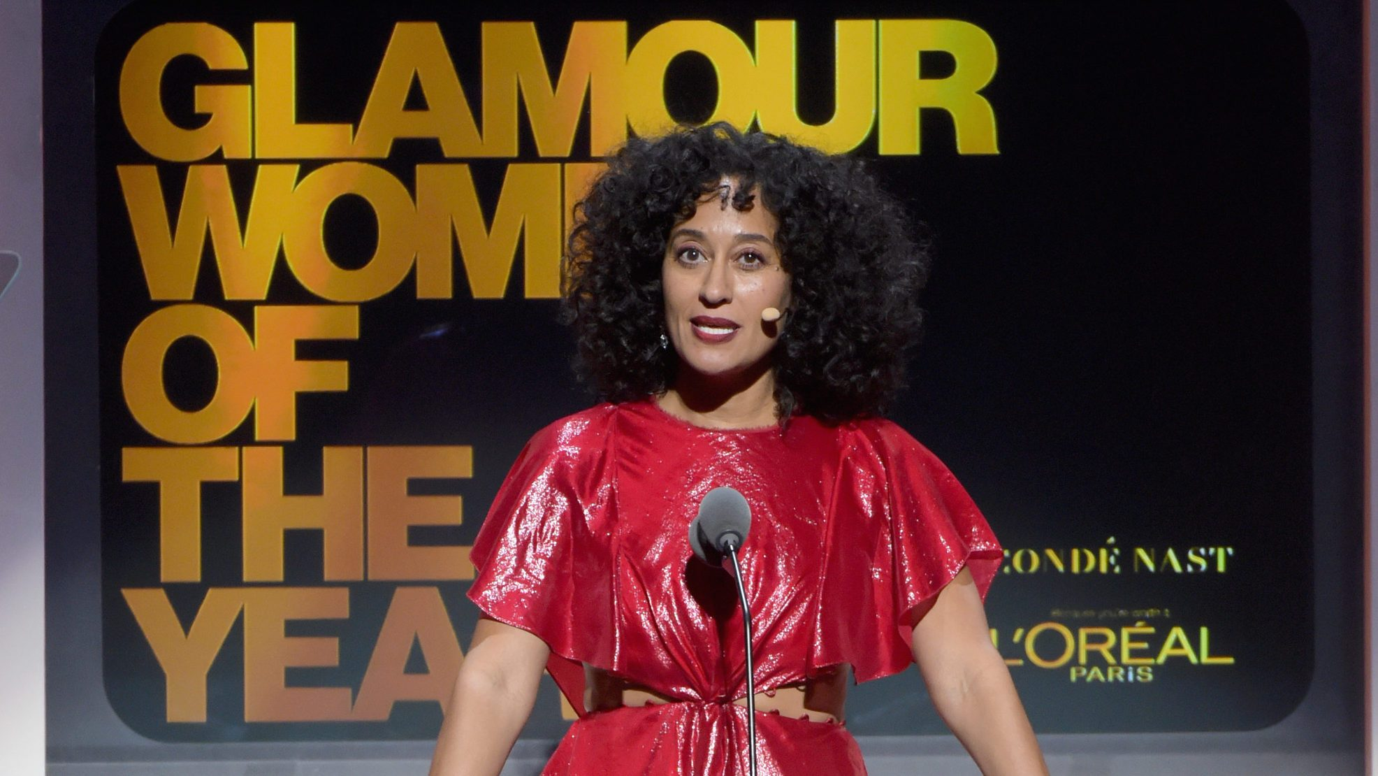 """Tracee Ellis Ross said dreamed of having a wedding when she was a little girl, but she """"also dreamed of winning an Oscar ."""