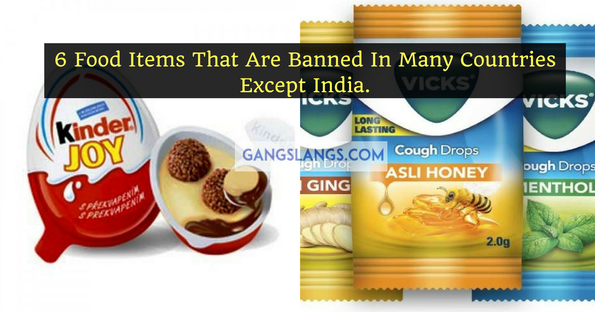 Food items banned