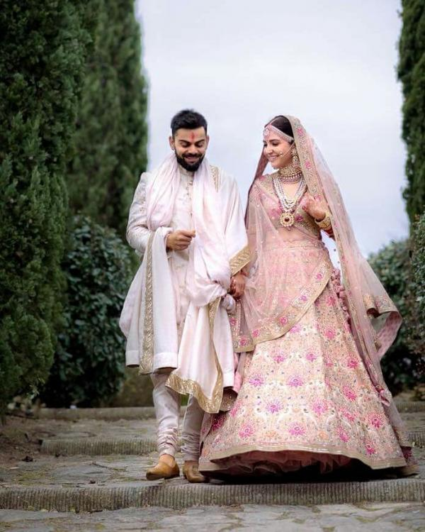 Virat Kohli and Anushka Sharma Wedding Pictures.