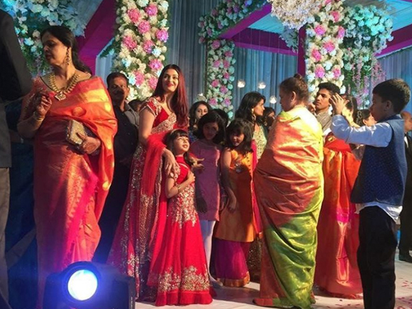 Aishwarya Rai Bachchan And Her Daughter Overawed At A Wedding