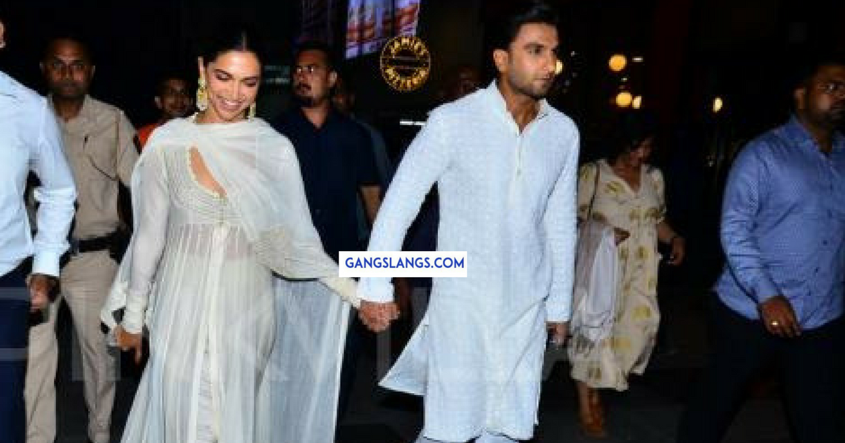 Deepika Padukone And Ranveer Singh Spotted At Padmaavat Screening